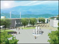 Artist's impression of St Athan plans