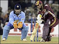Ramnaresh Sarwan hit 53 against India