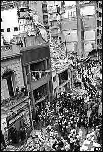 Imágenes de archivo del atentado en 1994.