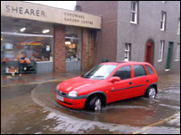 Kirkwall flooding, sent in by Leslie Burgher