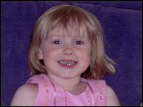 Murder victim, three-year-old Amelia Hall