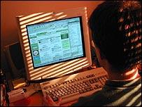 A man using the internet