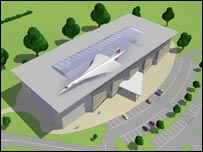Design for the new concorde visitor centre