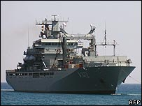A German naval vessel bound for Lebanese waters