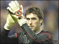 Rangers' goalkeeper Allan McGregor