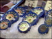 Caviar on sale in a supermarket