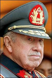 Augusto Pinochet en septiembre de 2006