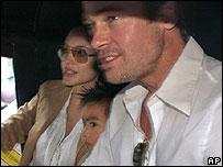 Angelina Jolie, Brad Pitt and their son Maddox