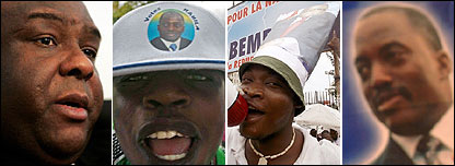 Various presidential run-off scenes in DR Congo