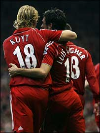 Dirk Kuyt and Luis Garcia