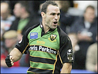 Northampton scrum-half Mark Robinson