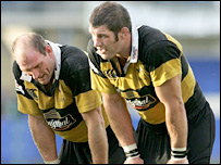 Wasps' Lawrence Dallaglio and Simon Shaw