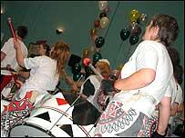 Bangor Samba group drumming