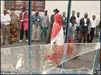 Voters queue in eastern DR Congo