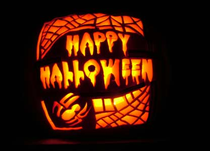 Happy Halloween - carved pumpkin