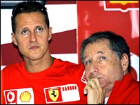 Michael Schumacher (left) and Jean Todt