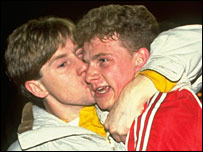 Mark Robins became an instant hero with United's fans