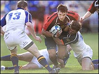 Action from Edinburgh's 25-24 win over Edinburgh