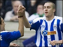 Colin Nish celebrates his goal for Kilmarnock