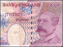 Edward Elgar on £20 note
