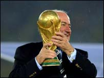Sepp Blatter with trophy