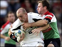 Gareth Thomas (left) and Mike Catt.