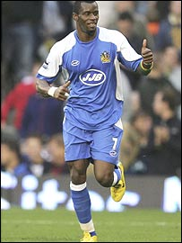 Wigan's Senegalese forward Henri Camara