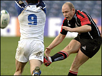 Edinburgh fly-half Duncan Hodge
