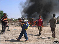 Roadside bomb in Baqouba