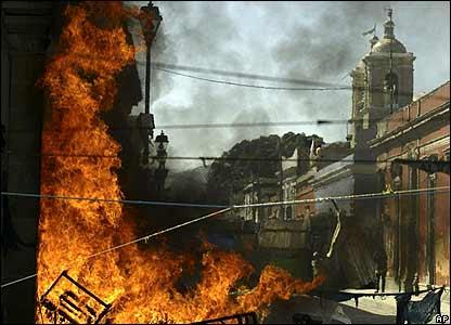 Burning City Blog Title