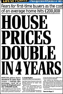 Daily Mail front page headline, 12/09/2006