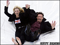 Kate Winslet and Hugh Jackman