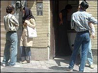 People on a street in Tehran