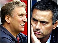 Neil Warnock and Jose Mourinho