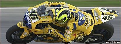 Valentino Rossi est� a la altura de personajes como Schumacher o Armstrong.
