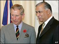 Prince Charles and Pakistani Prime Minister Shaukat Aziz