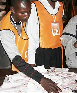 Vote counting in Goma