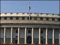 Parliament building in Delhi