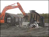 "The initial demolition work began on ""Cage 20"""