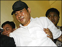 Tommy Suharto upon his release from prison on 30 October 2006