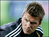 Beckham left Old Trafford for Real Madrid in 2003