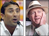 Younis Khan and Geoffrey Boycott