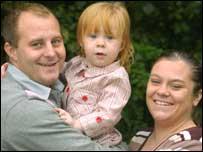 Luke Pittard, daughter Chloe and fiancee Emma Cox