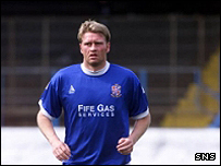 Brian Welsh in action for Cowdenbeath