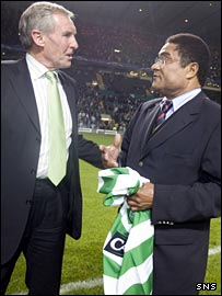 Billy McNeill and Eusebio