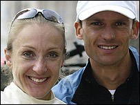 Paula Radcliffe and her husband Gary Lough
