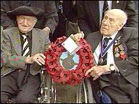 Robert Meier (left) and Henry Allingham