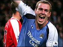 Man City goalscorer Richard Dunne