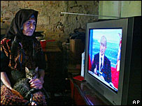Женщина у телевизора