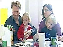 Deborah and Mark Brosnan with two of their three children
